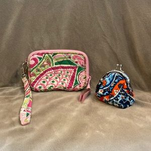 Vera Bradley Wristlet and Coin Pouch